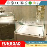 Modern New Design Plywood Baking Paint Used Jewelry Showcases Led Lights For Sale exhibition display