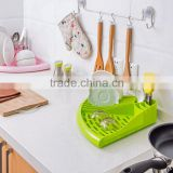 Free sample factory supply Large Triangle kitchen PP plastic dish drying rack