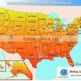 Newest seabay courier service from china to us