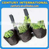Hanging garden wall planter bags in jute and polyester for planting
