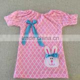 2016 Koya newly made real life pic Easter bunny dresses cheap children dresses