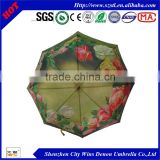 wind resistant umbrella flower print panel umbrella photography umbrella