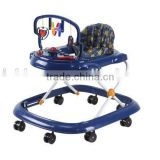 2015 new fashion baby walker with 3 point safety belt, fasion toys and good seat cover for your baby