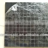 cheap and fashionable black square aluminium composite peel and stick tile for wall decoration