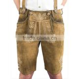 Lederhose / Supplier Bavarian Garments / Trachten Shorts / Lederhosen / Genuine Suede Leather Pant