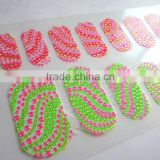 Melodi hot sale shiny mixed neon colors 3D nail polish strips factory