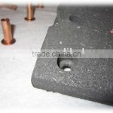 Hot selling!! truck moulded friction brake lining in brake system, for Higer, Yutong Bus