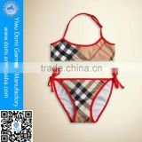 Fashion children tube top siwm wear swimwear sexy baby girl's bikini for 2015