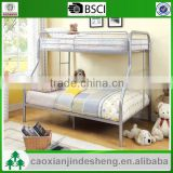 Low Price adult metal twin over full bunk bed - Silver Finish TF- 05