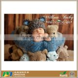 Cute Bear Design Baby Knit Hat Made with Soft Chunky Yarn for 0 -12 months