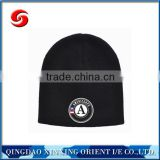 Colorful high quality made in china beanie hats without top ball/beanie hats with printing logo/knitting hats