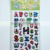 3D Letter Puffy Sticker / 3d foam sticker / Alphabet Sponge Bubble Stickers