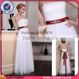 cheap beautiful casual dresses strapless pleated with silver crysatls beaded belt bridesmaid dresses wedding dresses made in usa