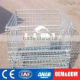 OEM Production Foldable Warehouse Wire Cage Roll Container Trolley