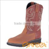 High Fashion Boots, Embroidery Work Boots High Heel Steel Toe Safety Shoe SA-N009