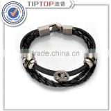 High Quality Unisex Retro Punk Bracelet Genuine Leather Accessories Bracelets Cowhide Bracelet Handmade Jewelry