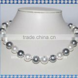 12mm Round Shape Necklace With Shell Pearls