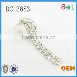 wholesale crystal rhinestone banding glass beaded chain for wedding dress