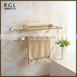Traditional Ferreteria Zinc alloy and Ceramic Polished Gold Bathroom sanitary items Wall mounted Bathroom towel rack