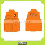 Custom canvas cotton sleeveless work multi-pocketed vests