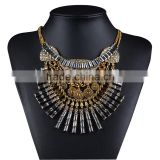Bohemian High Quality Ultra-luxury Necklaces Pendants Pure Crystal Statement Necklace Crystal Tassels Jew