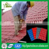 mix color low price plastic top grade artificial synthetic thatch roof tile for house