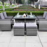 Modern Indoor/Outdoor All Weather Wicker Rattan Table Patio Set Gardern Furniture Dining Sets