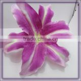 artificial easter lily silk flower heads for clothes(AM-F-62)