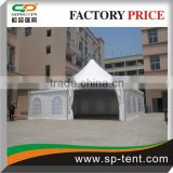 12X12m White Waterproof PVC Square Pagoda gazebo canopy Tents with factory price