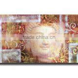 Handmade Modern Art Buddha Face Abstract Wall Decor Canvas Painting