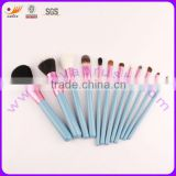 10-piece Makeup Brushes Set with Nylon Hair and Natural Hair