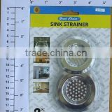 EXPORT USA 2PC USEFUL CONVINENT STAINLESS SINK STRAINER