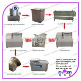 Brush Potato Washing & Peeling Machine Potato Cutting Machine For Potato Chips Line
