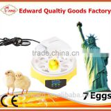 CE approved 7 egg broiler eggs for hatching/ broiler hatching eggs/hatching machine for sale(EW9-7)