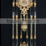 Brilliant Crystal Combined Gold Gilt Brass and Marble Clock, Home Decorative Pendulum Clock
