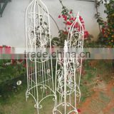 Vintage Antique White Ecofriendly Wrought Irons Powder Coated Small Garden Planter Pot Trellis