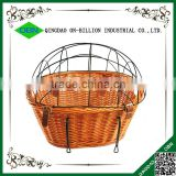 Removable wicker bike bicycle basket for dogs