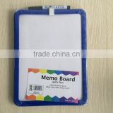 Memo board with pen With magnetic back Wipe clean with damp cloth