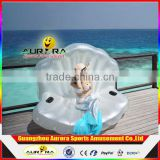 Customized Photography props mermaid SEA SHELL SOFA Inflatable Floating Lounge Chair shell scallops row of floating chairs