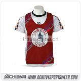 sublimated printing sports lacrosse pinnies Custom Box lacrosse jersey