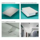Perforated Acoustic Panels With Mineral Wool Sandwich Panel For Ceiling Tile, Commercial Ceiling System