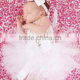 Wholesale OEM many colors little angel white christening newborn baby tutu dress M5051720