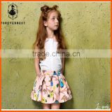 2016 new type young girls printing skirt