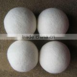 100% natural sheep wool laundry dryer ball/ organic soft wool dryer ball/best quality felt dryer balls