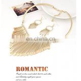 Fashion Women Tassel Gold Pendant Chain Choker Collar Bib Necklace Jewelry