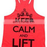 y back gym singlet with customized printing - Mens Wholesale Gym Singlet Y Back Singlet - Racer back bodybuilding singlets