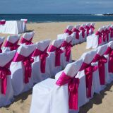 polyester wedding chair cover banquet chair cover and satin wedding chair sash