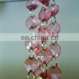PINK Acrylic Crystal Garlands for Wedding Party Ornaments Christmas Tree Hanging Decoration