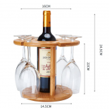 Bamboo Wood Wine Glass Holders