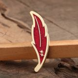 Glittering Leaf Custom Lapel Pins Small Quantity